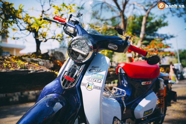 Super Cub do option do choi hon 200 trieu dong cua biker Long Khanh