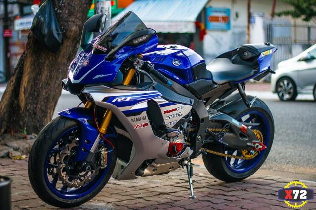 Yamaha R1 do het bai day noi bat voi loat trang bi khung cua Biker xu bien - 3