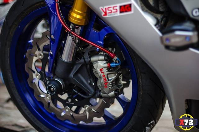 Yamaha R1 do het bai day noi bat voi loat trang bi khung cua Biker xu bien - 8