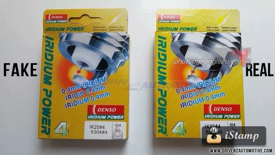 Cach phan biet Bugi Denso Iridium Fake Real - 2