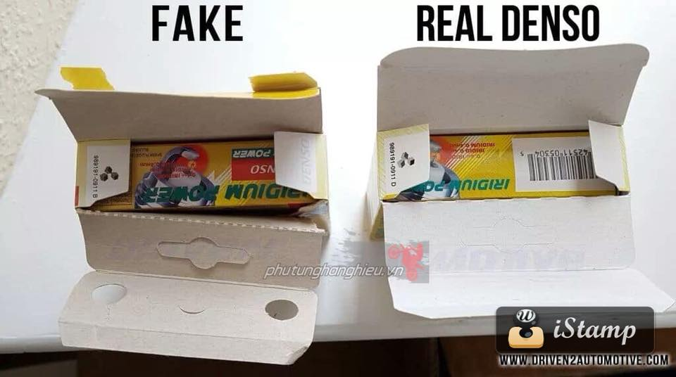 Cach phan biet Bugi Denso Iridium Fake Real - 4