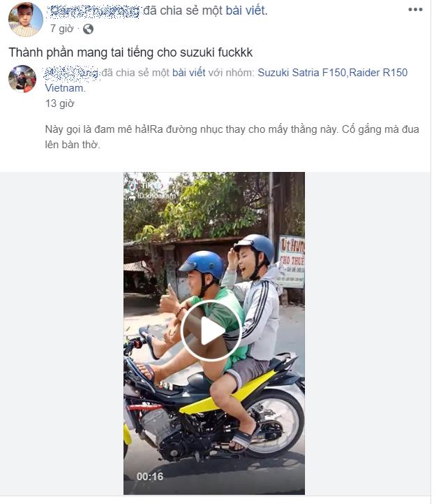 CLIP Thanh nien chay Raider 150 dieu khien bang chan khien dan mang phan no - 5