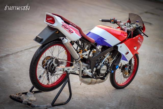 Kawasaki Kips 150 do dan chan mang ve dep kho cuong khoe dang trong nang mai - 8