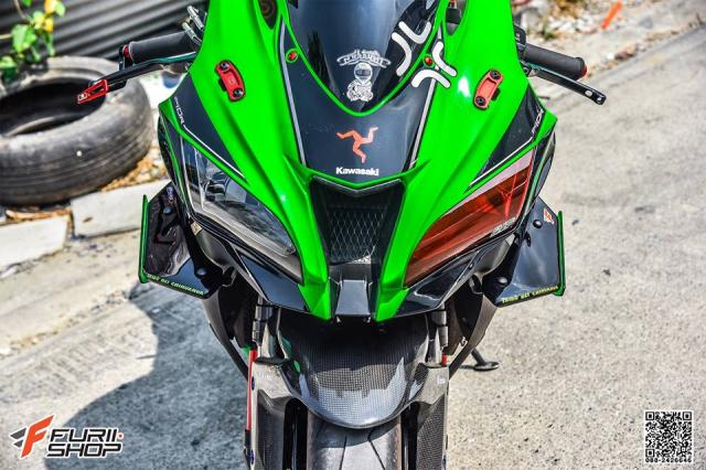 Kawasaki ZX10R do hung bao voi trang bi Winglet Puig dau tien o phien ban duong pho - 4