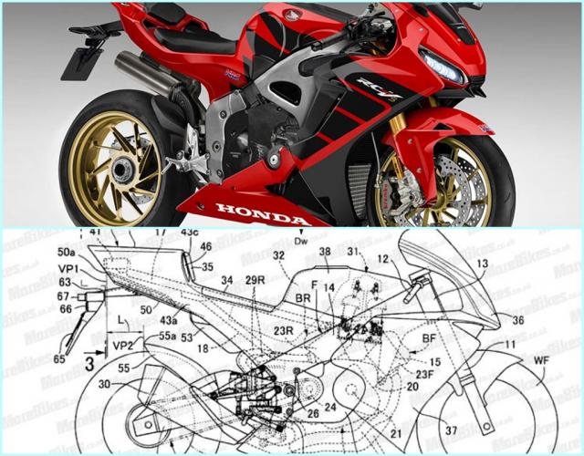 Lo dien hinh anh thiet ke du an Honda V4 canh tranh voi doi thu Ducati Panigale V4
