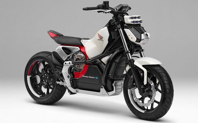 Honda Riding Assist mau mo to dien tu can bang sap duoc dua len day chuyen san xuat