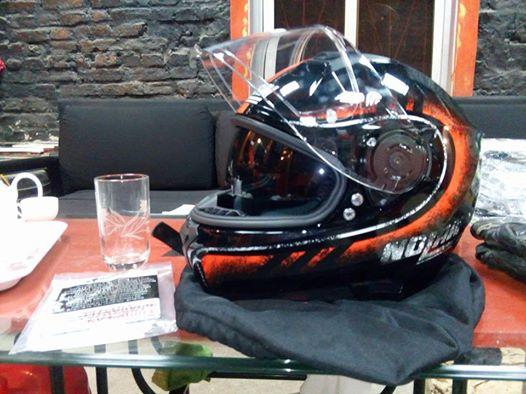 MTstore Nolan N87 Fulgor Metal Black Orange - 4