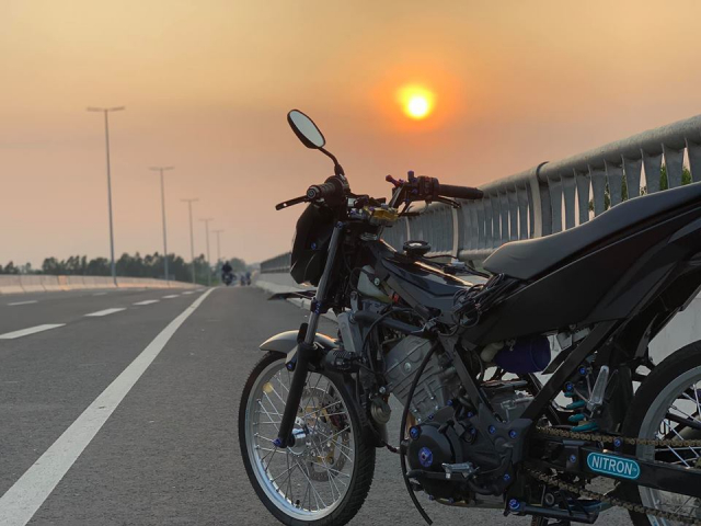 Satria 150 ban do chat luong voi dan combo Galespeed huy diet