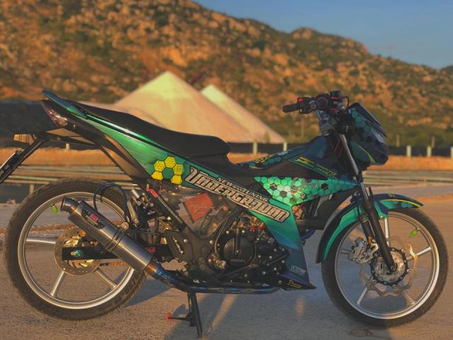 Satria 150 do an tuong khoe dang voi dan chan Racingboy sieu dinh - 6