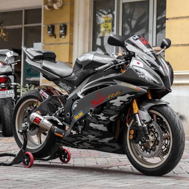 Yamaha R6 do cuc chat theo phong cach nha Binh voi dan ao Camo - 7