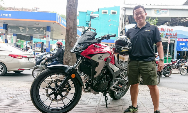 Dap thung Honda CB500X 2019 dau tien ve Viet Nam
