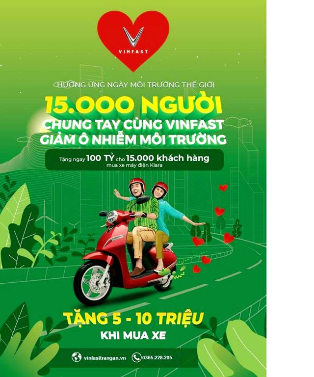 Gia Uu dai Trong thang 4 cho xe may dien vinfast