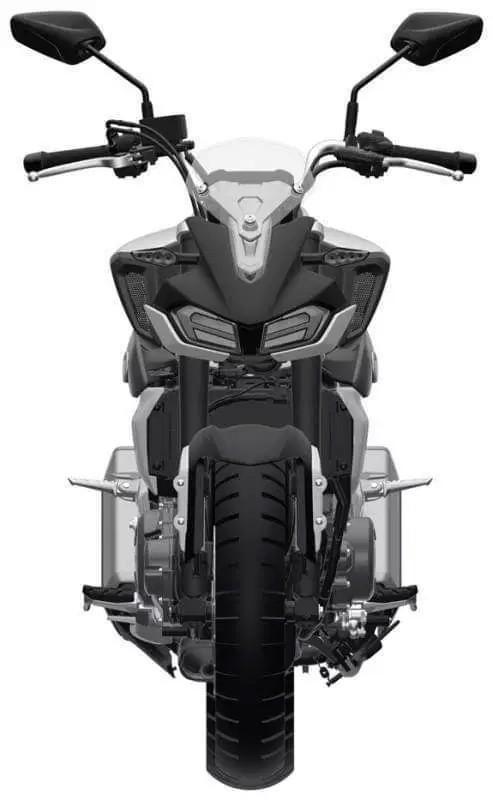Haojue gioi thieu mo hinh nakedbike trung quoc mang thiet ke tuong tu Yamaha MT09 - 4