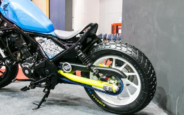 BIMS 2019 Honda Rebel 300 lot xac an tuong voi phong cach Bobber choi chang - 6