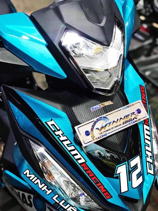 Honda Winner don dep va nang cap may tai Minh Luan Sport