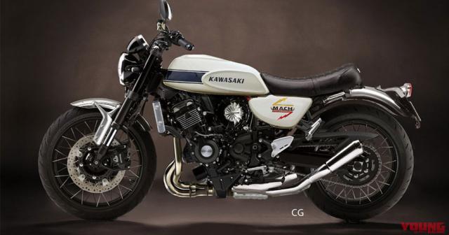 Kawasaki New Mach trang bi dong co sieu nap 650cc lo dien thiet ke - 4