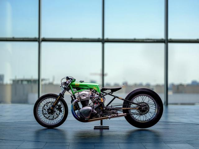 Kawasaki W650 do loi cuon voi phong cach Dragger Style den tu Schlachtwerk - 8