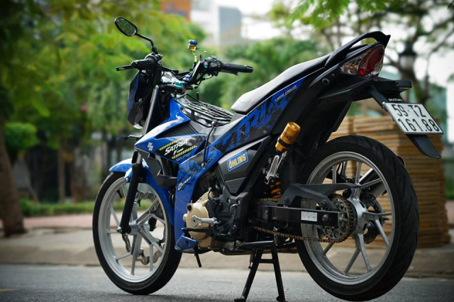 Satria 150 don full option voi hang loat do choi chat luong - 5