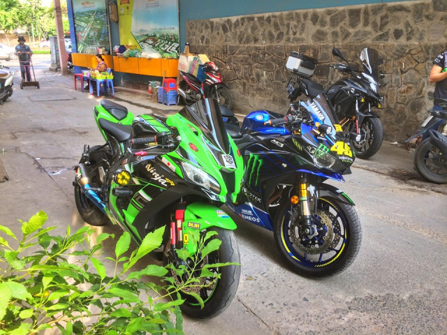 Yamaha R3 do chat ngat voi Team dau Monster Energy MotoGP 2019 cua Biker Viet - 8