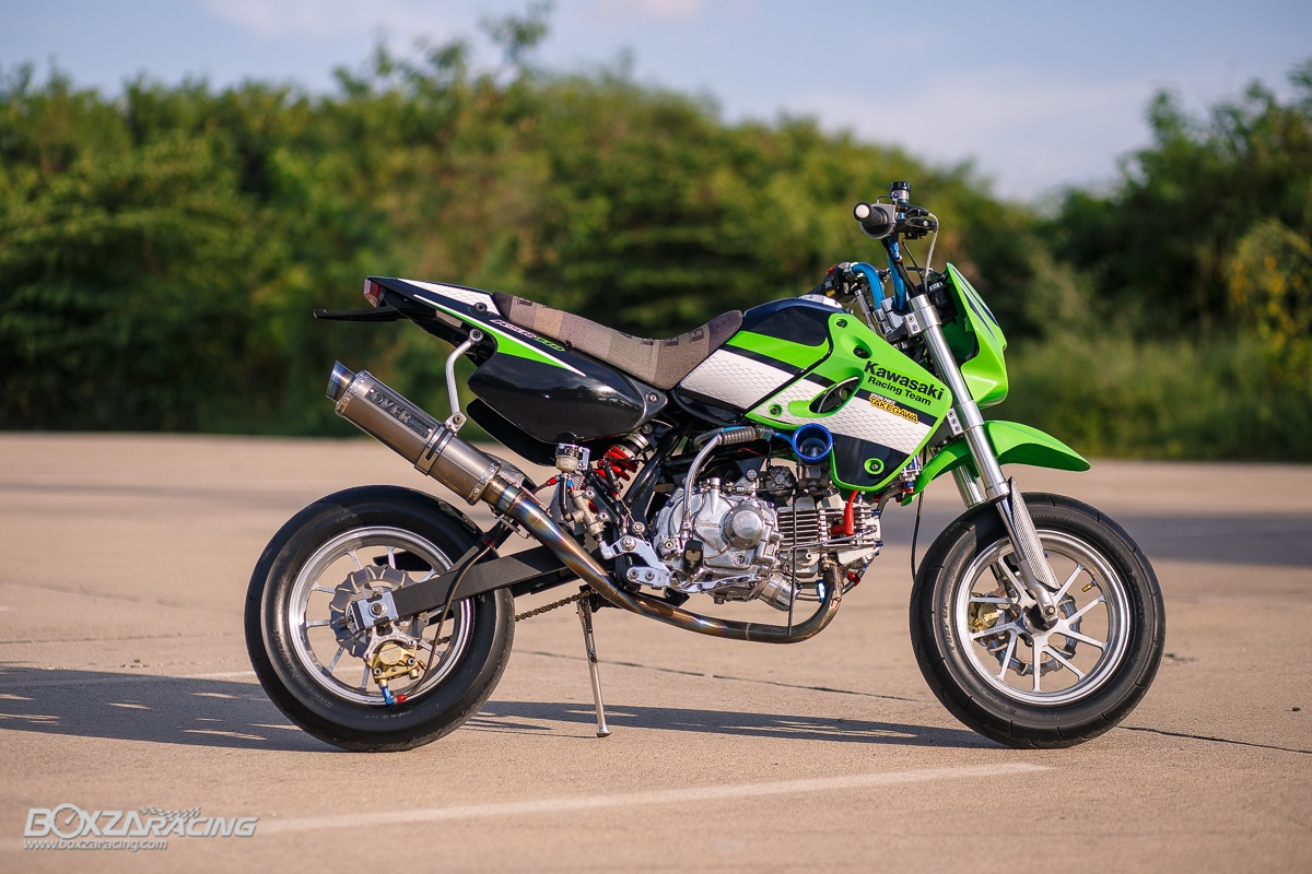 Kawasaki KSR 110 do tuyet dinh voi dan chan dep ma mi - 3