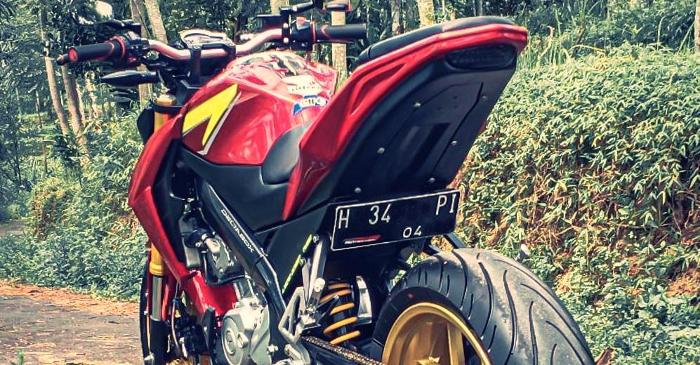 Yamaha FZ150i lot xac thanh KTM Duke 390