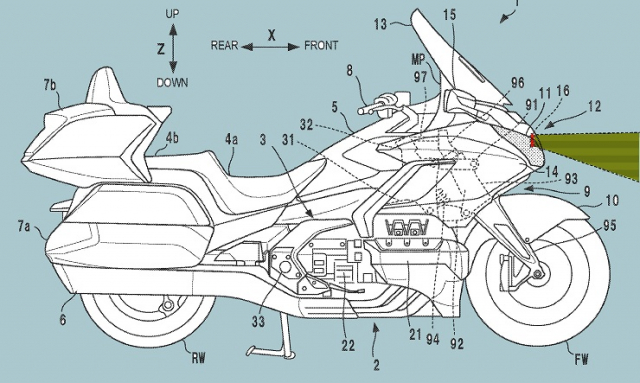 Honda Goldwing tiet lo thiet ke Radar hanh trinh thich ung