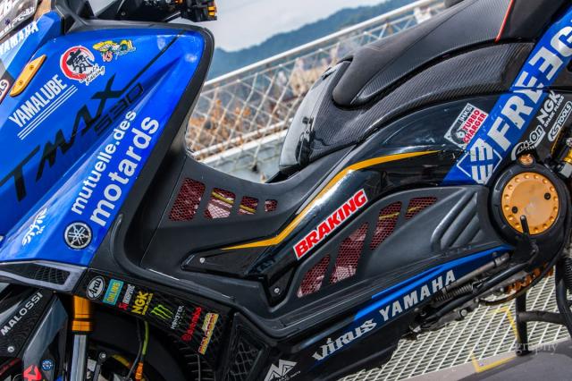 Yamaha TMAX 530 do Turbo cong suat 108 hp dang kinh ngac - 7