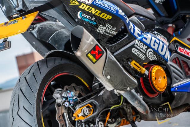 Yamaha TMAX 530 do Turbo cong suat 108 hp dang kinh ngac - 12