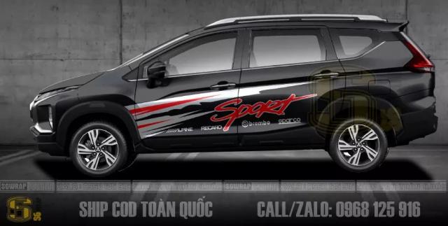 Cac Mau Tem Xe Xpander Cross 2021 Doc Dao Ship Cod Toan Quoc SaiGonWRAP - 2