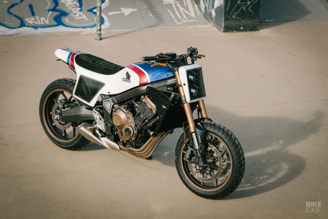 Honda CB650R do phong cach Flat Track cua KingSton - 3