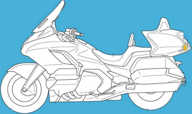 Honda tiep tuc tiet lo bang sang che Radar phia sau cho Goldwing