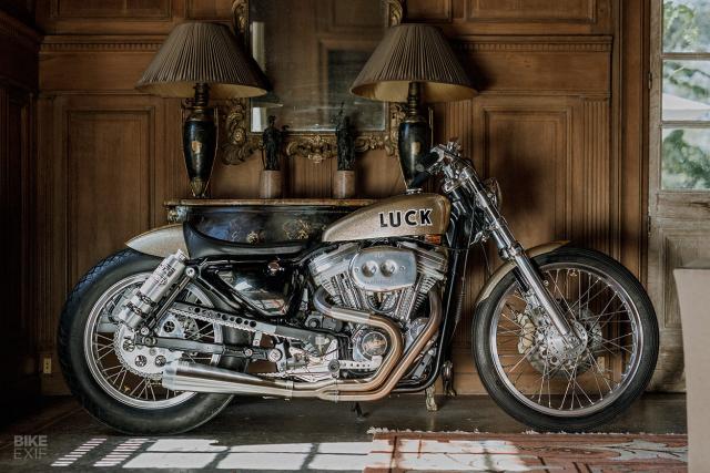 Ban do HarleyDavidson Sportster voi phong cach den tu Nhat Ban
