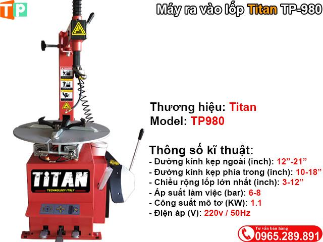 May ra vao lop xe may gia re Titan TP980