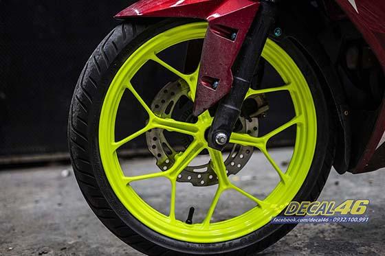 Son tinh dien mam xe may cho Winner X 150 do Decal46 thuc hien P1