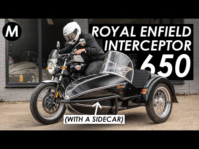 Cam giac lai Royal Enfield Interceptor 650 do Sidecar nhu the nao