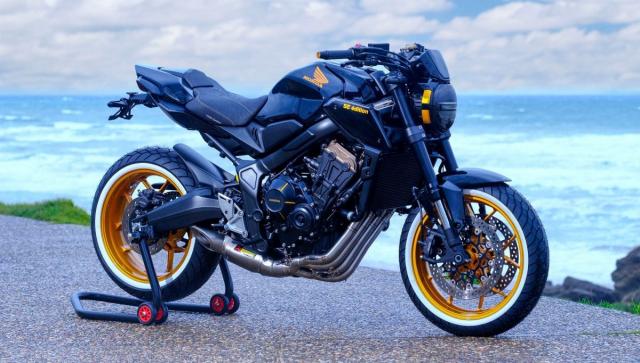 Honda CB650R do lay cam hung tu mau xe dap BMX ngo nghinh