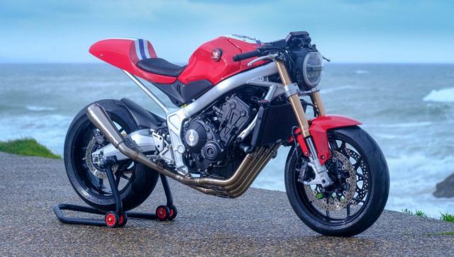 Honda CB650R do phong cach tan co dien cua Hakuba Motor