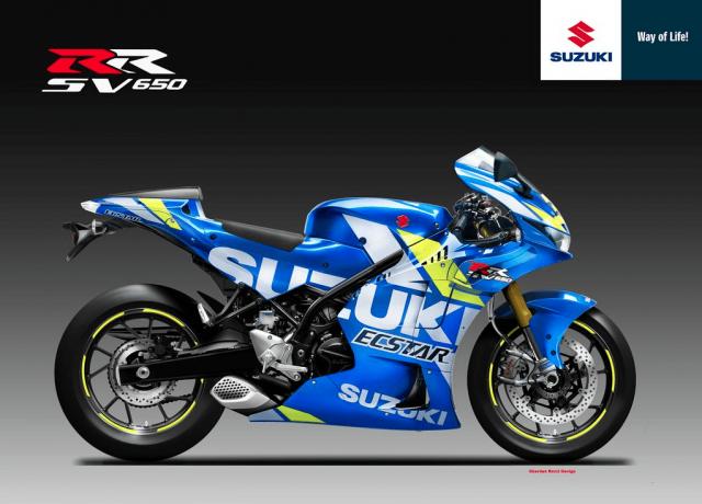 Lo tin thiet ke cua Suzuki SV650RR nham canh tranh voi Aprilia RS660 va Yamaha R7