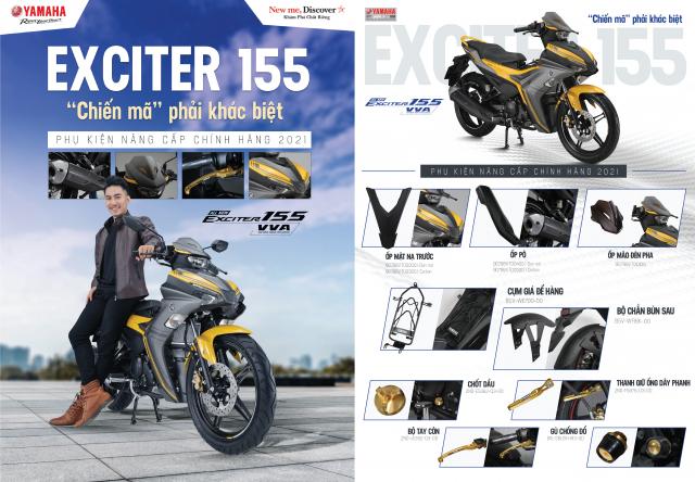 Yamaha ra mat Exciter 155 VVA phien ban gioi han kem loat phu kien nang cap chinh hang 2021 - 2