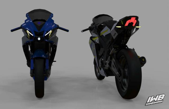 Lo dien hinh anh 3D cua Yamaha R3 2022 ngau khong tuong
