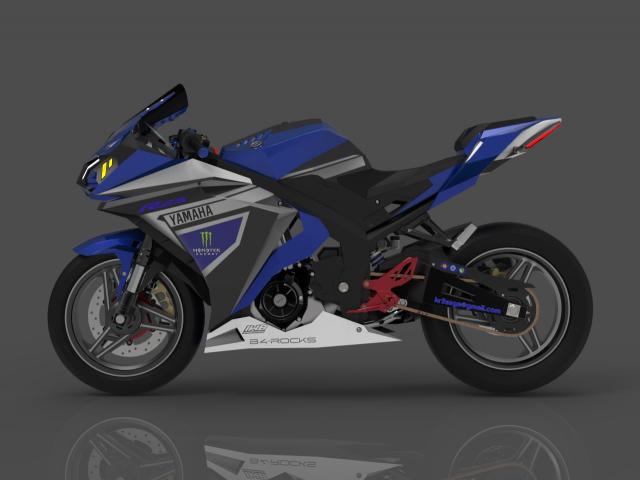 Lo dien hinh anh 3D cua Yamaha R3 2022 ngau khong tuong - 6