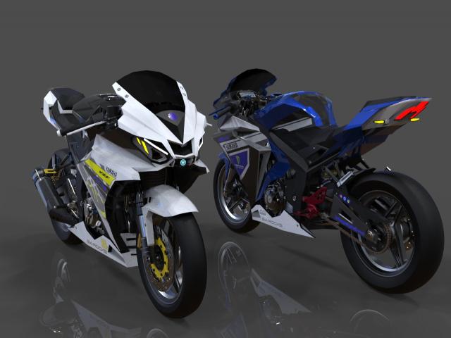 Lo dien hinh anh 3D cua Yamaha R3 2022 ngau khong tuong - 10