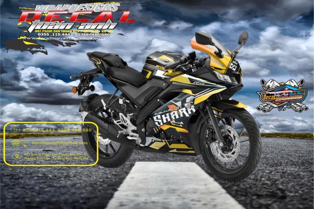 Tem Che Yamaha R15 V3 Dep Doc Tuan ANh decal WRAP Design Thi Cong Tem Xe Chuyen Nghiep - 18