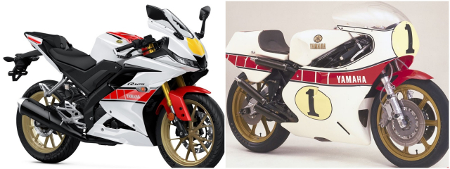 Can canh Yamaha R125 2022 phien ban Ky niem trang bi an dut R15 than thanh - 4