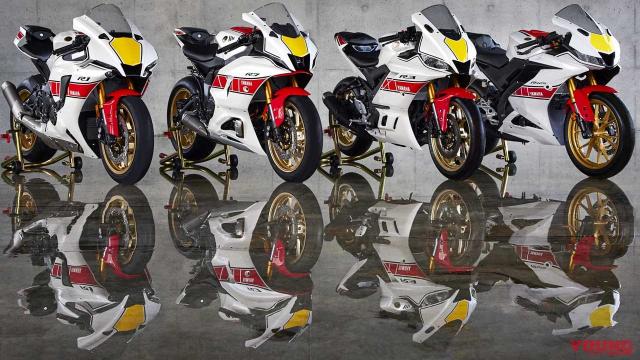 Can canh Yamaha R125 2022 phien ban Ky niem trang bi an dut R15 than thanh - 3