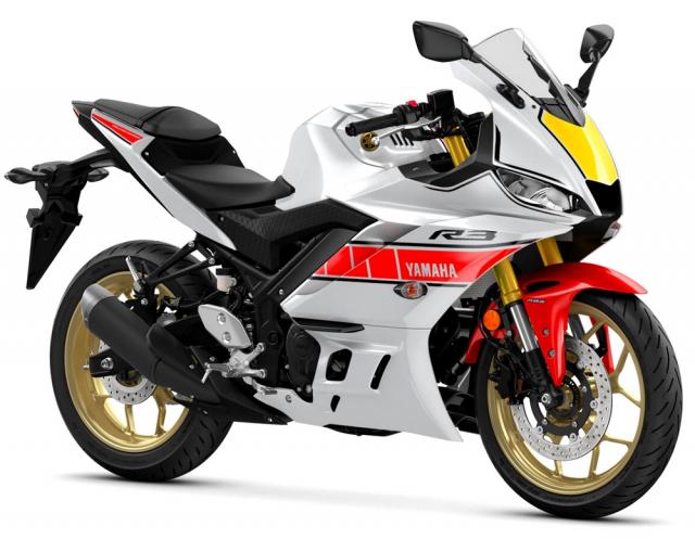 Ra mat gia dinh Yamaha R1 R7 R3 R125 60th Anniversary Livery - 5