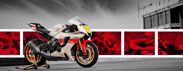 Ra mat gia dinh Yamaha R1 R7 R3 R125 60th Anniversary Livery