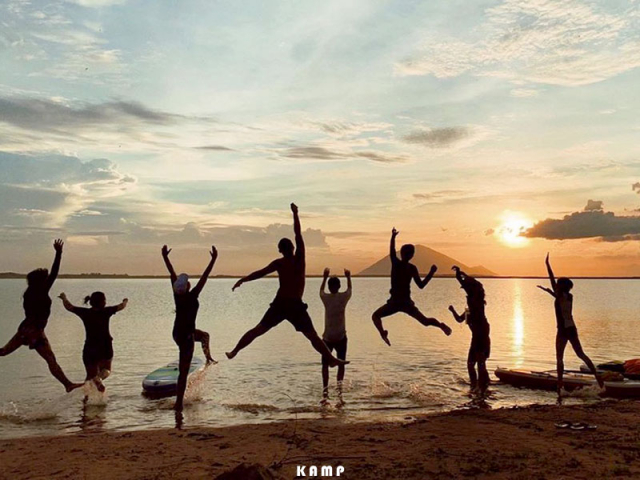 Review Trai nghiem cam trai cuc chill tai ho Dau Tieng